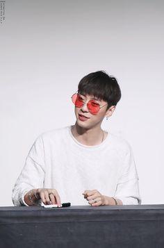 Yongguk // BAP // I want his red shades.