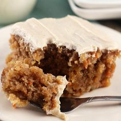 Gooey Cinnamon Carrot Poke Cake ~ Amazingly Moist Cake Stuffed with Carrots, Coconut, Pineapple, Topped with a Buttermilk Glaze and Cinnamon Cream Cheese Frosting! This is my favorite carrot cake recipe! Just Desserts, Delicious Desserts, Yummy Food, Easter Desserts, Delicious Cookies, Sweet Recipes, Cake Recipes, Dessert Recipes, Carrot Recipes