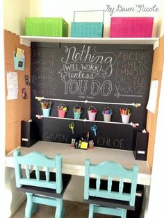 Trendy Ideas For Diy Desk Organization For Teens Girl Rooms Homework Station - DIY Desk Ideen Kids Homework Station, Homework Center, Homework Organization, Organization Station, Organization Ideas, Kids Study Spaces, Study Areas, Small Study Area, Small Spaces