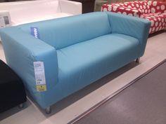 Klippan Bleu - IKEA Tourville la Rivière Sofa, Couch, Carolina Blue, Stores, Interior Inspiration, France, Heels, Furniture, Home Decor