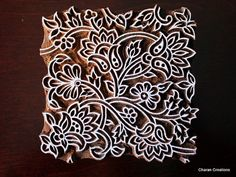 Hand Carved Indian Wood Textile Stamp Block by charancreations, $42.00