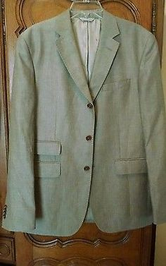 Mens Banana Republic Jacket Wool-Linen-Hacking-Blazer-375-New-sz-42-R
