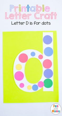 This printable letter d craft for kids, preschoolers and toddler includes a d dots template art project for uppercase letter d. Alphabet Activities, Letter D Activities, Preschool Activities, Homeschool Activities Preschool Letter Crafts, Alphabet Letter Crafts, Abc Crafts, Alphabet Activities, Preschool Activities, Letter Tracing, Alphabet Book, Letter Art, Spanish Alphabet