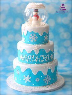 Winter ONEderland Theme Cake