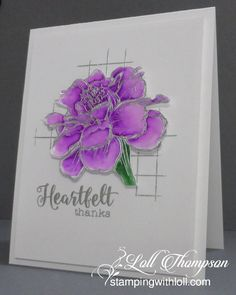 Watercolor: ZIG CC BRUSH MARKERS | Stamps:  French Marigold, Fond Expressions 2 (STAMPlorations); Grid (SSS) Paper: STRATHMORE MIXED MEDIA PAPER for flower; White Card base front (Neenah); Ink:  Versamark, Accessories: Silver embossing powder (Ranger), waterbrush (1.15.16) [on wc2 + zig}