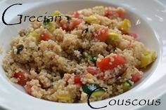 Grecian Couscous with Squash, Cucumber, and Tomato