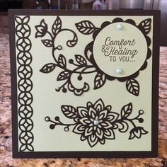 I just received my new Stampin Up order. Flourishing Phrases!