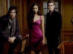 The Vampire Diaries Damon Elena and Stefan