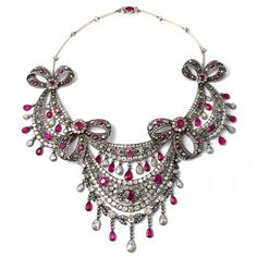Pennisi necklace with rubies and diamonds, 1880