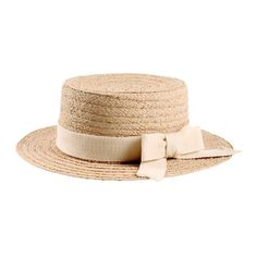ISLAND Natural straw hat with ribbon 1