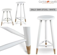Buy Durable Sally #Bar #Stool White Online!!  To know more about this table, visit at: https://www.curtisandhayes.com/sally-bar-stool-white.html