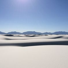 White Sands, New Mexico. Photo by btparker