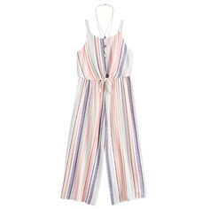 She'll love the vibrant style of this girls' printed jumpsuit from Knitworks, featuring a coordinating necklace. Cute Comfy Outfits, Cute Girl Outfits, Cute Outfits For Kids, Cute Summer Outfits, Spring Outfits, Kids Outfits Girls, Girls Fashion Clothes, Girl Fashion, Fashion Outfits