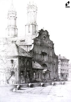 Old town made in DOMIN Radom drawing school by Filip Starzomski / Stare miasto wykonane w szkole rysunku DOMIN Radom przez Filipa Starzomskiego https://web.facebook.com/DominRadom?_rdr