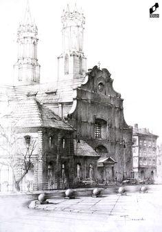 Old town made in DOMIN Radom drawing school by Filip Starzomski / Stare miasto wykonane w szkole rysunku DOMIN Radom przez Filipa Starzomskiego https://web.facebook.com/DominRadom?_rdr