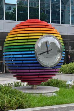 Over the rainbow clock - Yeouinaru - South Korea Visit… Love Rainbow, Taste The Rainbow, Over The Rainbow, Rainbow Colors, Rainbow Stuff, Rainbow Things, Rainbow Falls, Rainbow Room, Rainbow Art