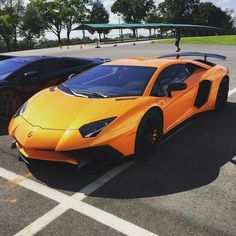 Lamborghini Aventador Super Veloce Coupe painted in Arancio Atlas Photo taken by: Cars of Maryland & Virginia on Flickr