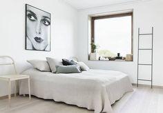 Une chambre blanche à la déco épurée - La chambre blanche en 20 façons - Elle Décoration