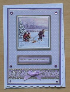 #Hunkydory #create and craft   TThe topper and background card are from the Hunkydory 4 day deal on create and craft. I have also used added a bow from my crafty stash