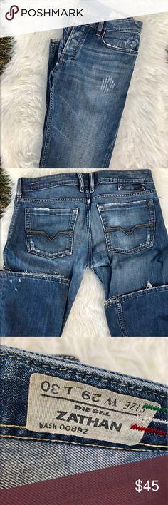 • men's diesel distressed denim jeans size 29/30 • Euc Men's distressed denim jeans size29/30L. No flaws! Diesel Jeans Bootcut