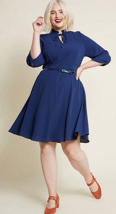 21c5a11bbb5 Plus Size Navy Blue Cocktail Dress - Classic Style Navy Cocktail Dresses -