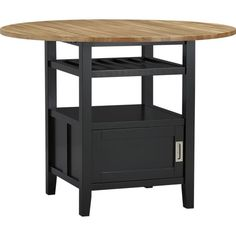 Belmont Black High Dining Table in Dining Tables | Crate and Barrel