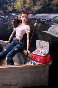 Barbie goin' fishin' by Deb