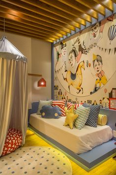 Divulgação Kids Bedroom Designs, Kids Room Design, Single Bedroom, Baby Room Decor, Home Decor Furniture, Boy Room, Decoration, Rio 2016, Futons