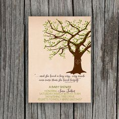 Giving Tree Baby Shower Invitation by PetitPapel on Etsy, $12.00