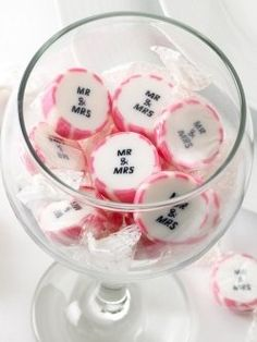 Seaside Wedding Inspiration | Rock Candy Favours Seaside memories, great at a wedding!