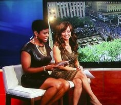 Jacque Reid looked fantastic wearing our faux leather sheath on New York Live TV!