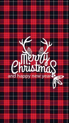 plaid Christmas iPhone Wallpapers