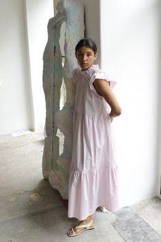 SEA, Marlene Dress, Wisteria | Linen Dresses, Wisteria, Flutter Sleeve, I Dress, Cotton Linen, Editorial, Summer Outfits, Fashion Dresses, Cold Shoulder Dress