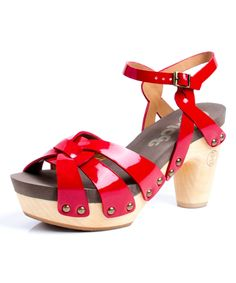 FLOGG Red Fain Patent Leather Sandal | zulily