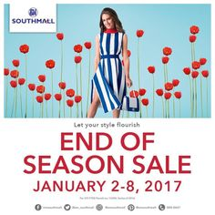 Let's start the year right - get yourselves ready for shopping deals at SM Southmall!  Check out SM Southmall END OF SEASON SALE!  Score discounts of UP TO 70% OFF on select items!  For more promo deals, VISIT http://mypromo.com.ph/! SUBSCRIPTION IS FREE! Please SHARE MyPromo Online Page to your friends to enjoy promo deals!