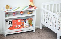 DIY kids bedside table with book storage 2019 Such a great idea! Perfect for a kids room for book storage