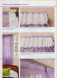 1000 images about cortinas on pinterest manualidades - Como hacer cortinas paso a paso ...