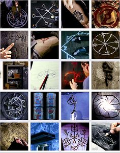 SUPERNATURAL Symbols - a more interesting Halloween look, maybe? Decorating with random symbols worked out really well in the show!