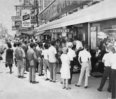 First Jazz Fest at Werlein's on Canal Street, 1970, New Orleans, Louisiana