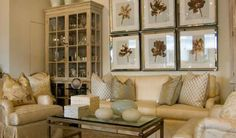 Nancy Corzine Design via Ava Living love the way the pictures are hung