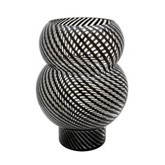 Dimond Home 464079 Whirl Bubble Vase Black And Clear Home Decor Accents Vases