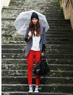 雨の日はレザーのコンバースでお出かけ♡雨の日を乗り切る雨の日コーデ♡参考にしたスタイル・ファッション♡