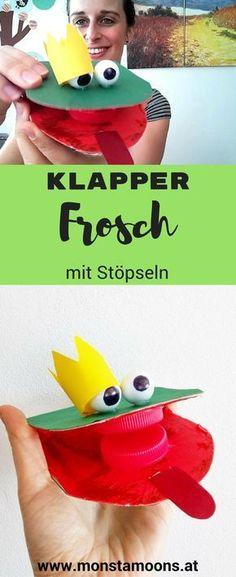 Klapperfrosch Frosch basteln Frosch DIY frog craft spring craft DIY noisy frog The post Klapperfrosch mit Stöpseln appeared first on DIY Projekte. Diy Crafts Love, Crafts For Girls, Easy Crafts, Diy For Teens, Diy For Kids, Frog Crafts, Do It Yourself Crafts, Spring Crafts, Recycled Crafts