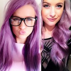 Have fun playing and experimenting with your hair after looking at our list of best hair dye colours for this year Light Purple Hair Dye, Purple Dip Dye, Pastel Purple Hair, Dyed Hair Pastel, Lilac Hair, Zooey Deschanel, Rock Star Hair, Cabello Zayn Malik, Hair Colors