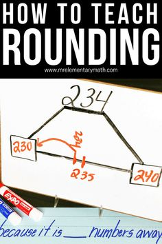 Rounding 101 - Number Lines, Games and More 5 rounding activities to help your and grade students round numbers to the nearest 10 and Discover hands-on rounding activities, games, number lines and independent worksheets. Rounding Activities, Math Games, Fifth Grade Math, Fourth Grade, Rounding 3rd Grade, Math Strategies, Math Tips, Math Numbers, Rounding Numbers