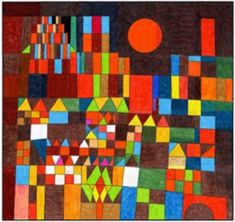 "Paul Klee Sun PDF mural template. $8 instant download. 45"" x 42"" when complete. #klee #TPT"