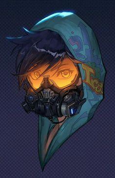 Overwatch - Graffiti Tracer Skin Portrait // fff that skin is so good Character Concept, Character Art, Concept Art, Character Design, Tracer Overwatch, Tracer Art, Overwatch Comic, Art Cyberpunk, Costume Steampunk