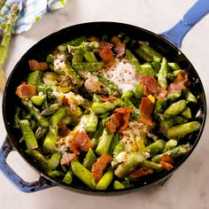 Asparagus Hash - Replace the potatoes with a veg, and feel amazing about yourself. 😉 It's cooked in bacon fat a - Asparagus Bacon, Asparagus Recipe, Breakfast Recipes With Asparagus, Breakfast Hash, Breakfast Time, Bacon Recipes, Cooking Recipes, Healthy Recipes, Bacon Hash