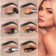 Here is Kylie Jenner Style Eye Makeup Tutorial! - Here is Kylie Jenner Style Eye Makeup Tutorial! Kylie Jenner Eyes, Kylie Jenner Makeup Look, Kylie Jenner Makeup Tutorial, Eye Makeup Glitter, Eyeshadow Makeup, Prom Makeup, Rave Makeup, Wedding Makeup, Pink Eyeshadow