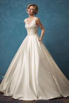 Wedding dress idea; Featured Dress: Amelia Sposa